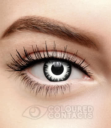 Lunar Eclipse 90 Day Coloured Contact Lenses (White/Black)