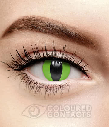 Snake Eye 90 Day Coloured Contact Lenses (Green)
