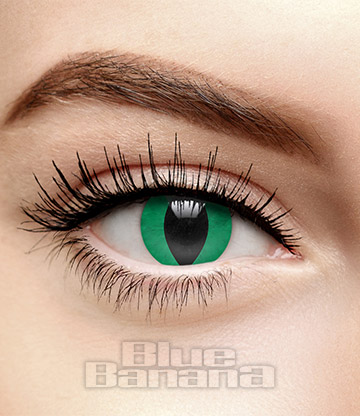 Snake Eye 30 Day Coloured Contact Lenses (Green)