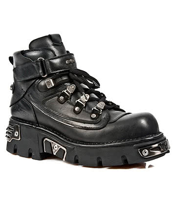 New Rock Style M.654-S1 Reactor Ankle Boots (Black)