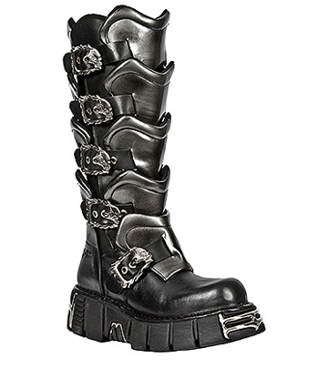 New Rock M.738-S1 Tower Plated High Boots (Black)