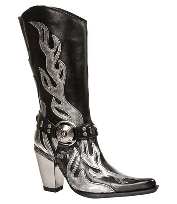 New Rock M.7901-S2 Bull Flame Boots (Black)
