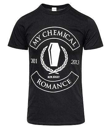 Official My Chemical Romance Coffin Rocker T Shirt (Black)
