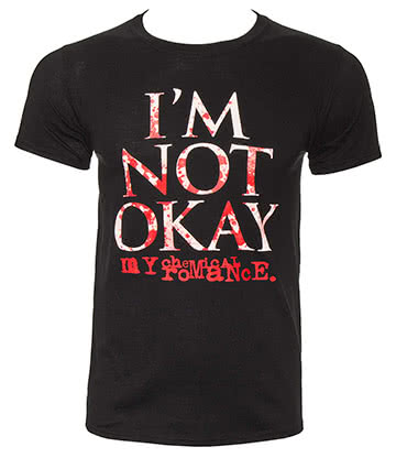 Official My Chemical Romance I'm Not Okay Splatter T Shirt (Black)