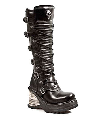 New Rock M.8272-S1 Platforma High Boots (Black)