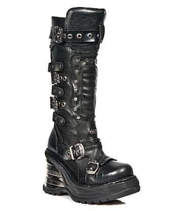 New Rock M.8353-S2 Platforma High Boots (Black)