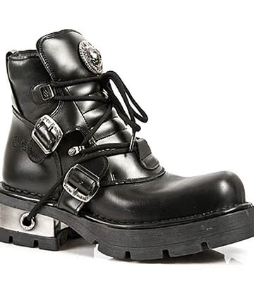 New Rock M.988-S1 M3 Ankle Boots (Black)