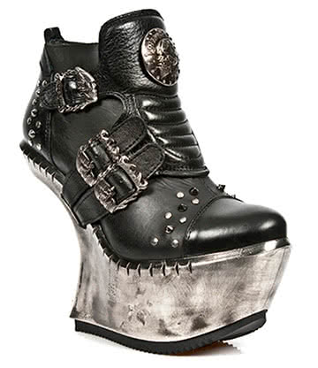 New Rock M.EXT008-S1 Extreme Heel-Less Shoes (Black)