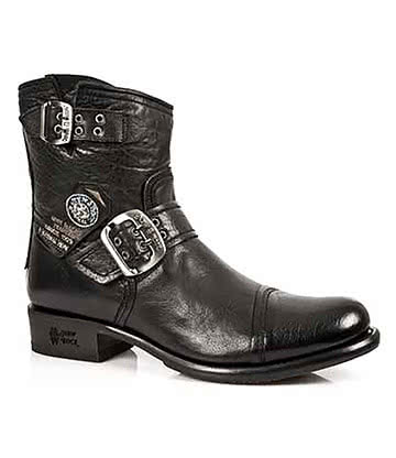 New Rock Style M.GY05-S1 Ankle Boots (Black)