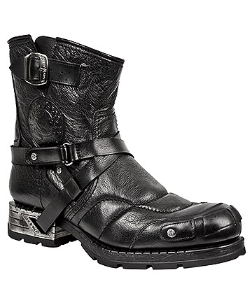 New Rock M.MR004-S1 Motorock Ankle Boots (Black)