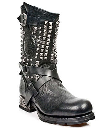 New Rock Boots Motorock Studded Style M.MR020-S1 (Black)