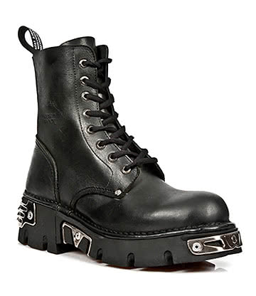 New Rock M.NEWMILI084-S9 Military Reactor Boots (Black)