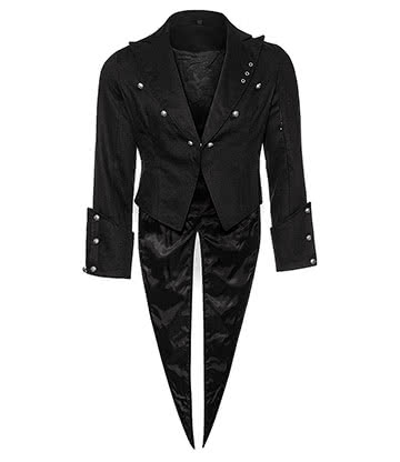Bleeding Heart Tail Jacket (Black)