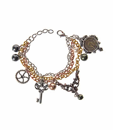 Alchemy Gothic Mrs Hudsons Cellar Keys Bracelet Steampunk