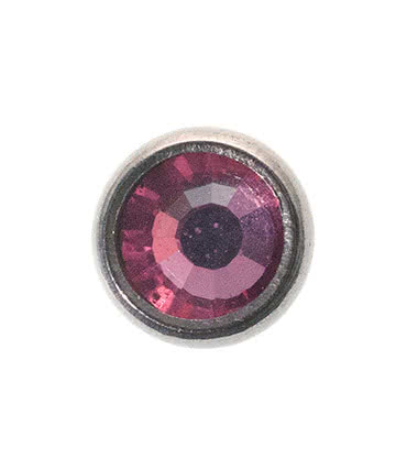 Blue Banana Surgical Steel 5mm Dermal Top (Rose)