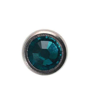 Blue Banana Surgical Steel 5mm Dermal Top (Zircon)