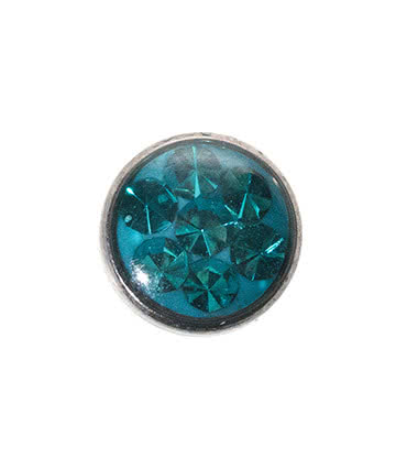 Blue Banana 5mm Glitter Dermal Top (Zircon)