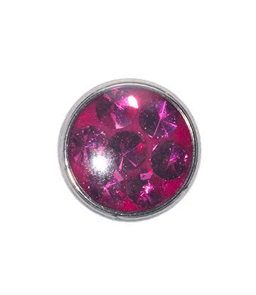 Blue Banana Surgical Steel 5mm Glitter Dermal Top (Fuchsia)
