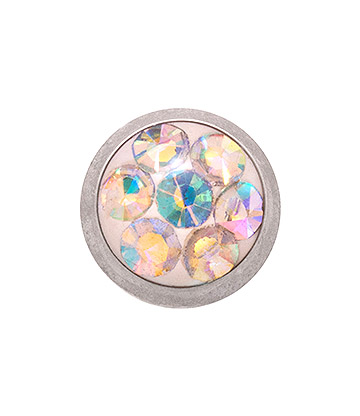 Blue Banana Surgical Steel 5mm Glitter Dermal Top (Aurora Borealis)