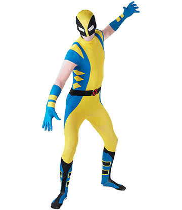 Rubies Second Skin Wolverine Costume (Yellow/Blue/Black)