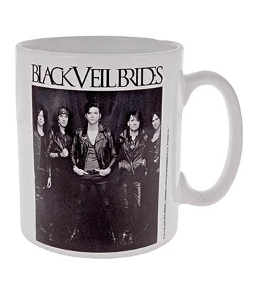 Official Black Veil Brides Blackout Mug (White)