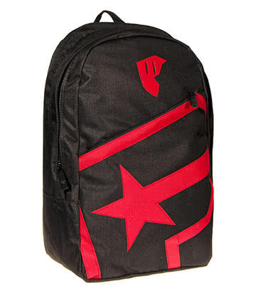 Famous Stars & Straps Badge Of Honor Zip Backpack (Black/Red)