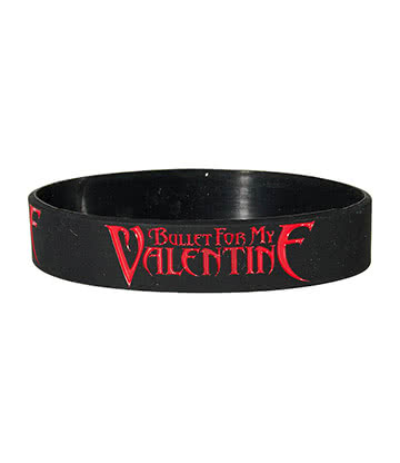 Official Bullet For My Valentine Logo Wristband (Black/Red)
