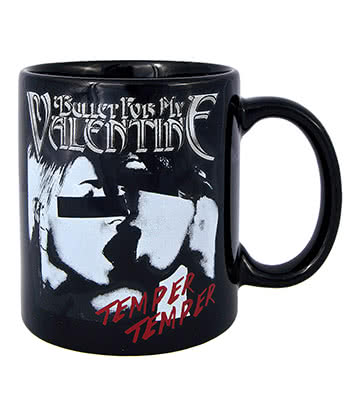 Official Bullet For My Valentine Temper Temper Kiss Mug (Black)