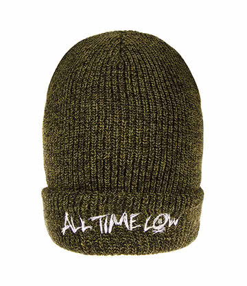 Berretto Con Logo All Time Low (Verde) Taglia unica