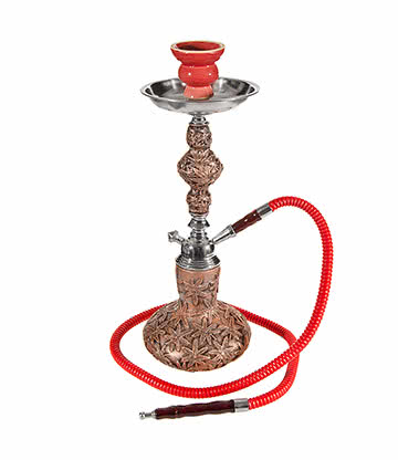 Blue Banana Leaves Hookah (Red)