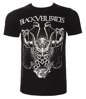 Official Black Veil Brides Demon Rises T Shirt (Black)