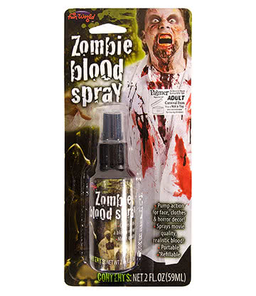 Tube Spray Faux Sang Zombie Maquillage Halloween (59 ml)