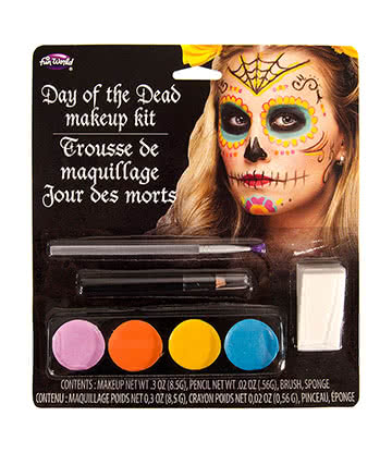Halloween Day Of The Dead Makeup Kit (Multicoloured)