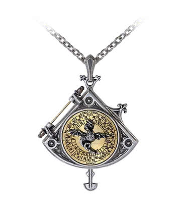 Alchemy Gothic Astral Dragon Quadrant Locket Pendant