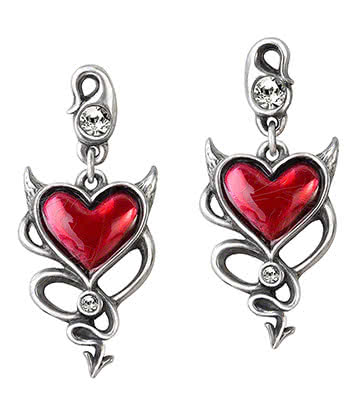 Alchemy Gothic Devil Heart Ohrringe