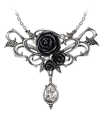Alchemy Gothic Bacchanal Rose Pendant Necklace