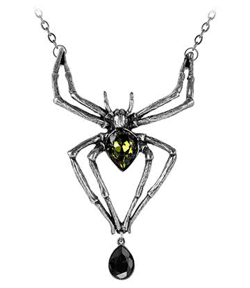 Alchemy Gothic Emerald Venom Pendant Necklace