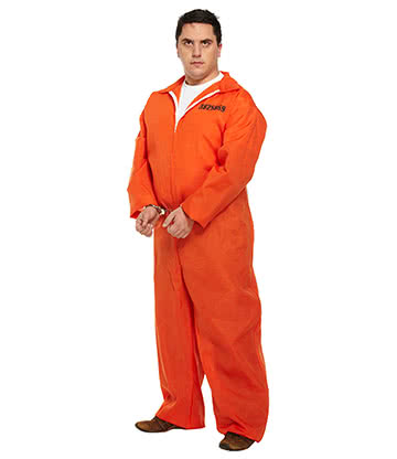 Blue Banana Prisoner Plus Size Fancy Dress Costume (Orange)