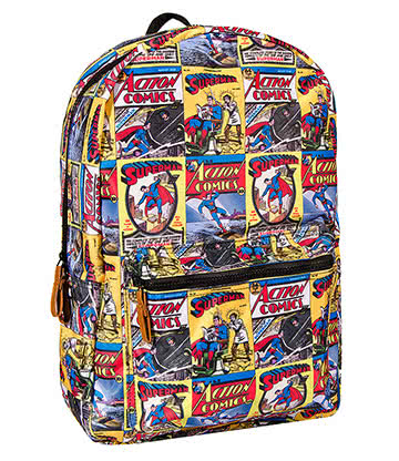 DC Comics Superman Comic Backpack (Multi Coloured)