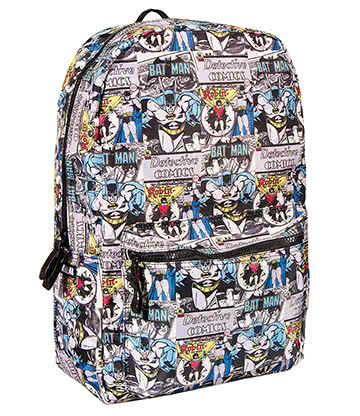 DC Comics Batman & Robin Backpack (Multicoloured)