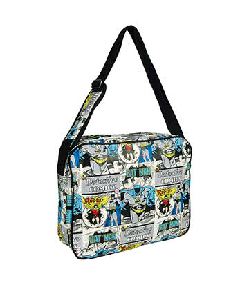 DC Comics Batman & Robin Messenger Bag (Multi Coloured)