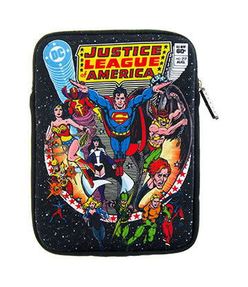 DC Comics Justice League Retro Comic Neoprene Tablet Sleeve (10 Inch)