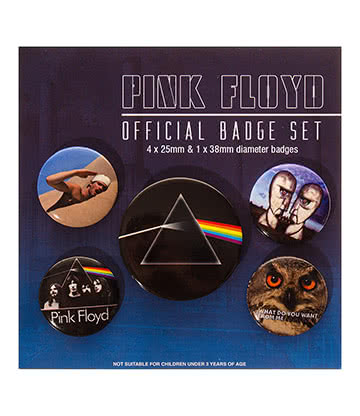 Official Pink Floyd Badge Set (Pack of 5)