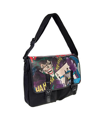 DC Comics Joker & Batman Vintage Satchel (Black)