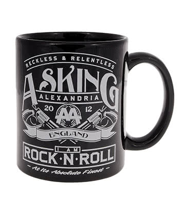 Official Asking Alexandria Reckless & Relentless Mug (Black)