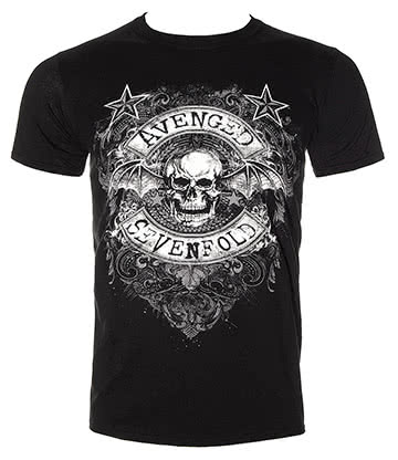 Official Avenged Sevenfold Star Flourish T Shirt (Black)