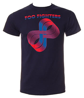 Official Foo Fighters Loops Logo T Shirt (Navy)