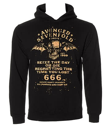Official Avenged Sevenfold Seize The Day Hoodie (Black)