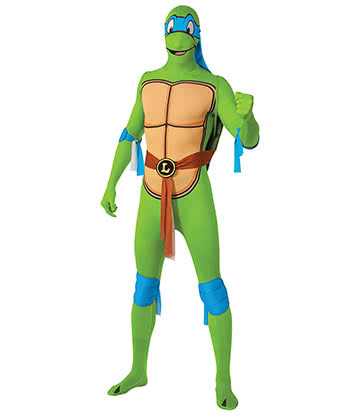 Rubies Second Skin Leonardo Teenage Mutant Ninja Turtle Jumpsuit (Green/Blue)