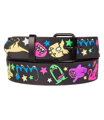 Blue Banana Monsters Belt (Black)